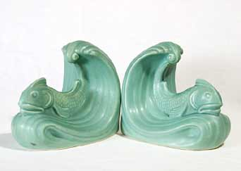 Langley dolphin bookends