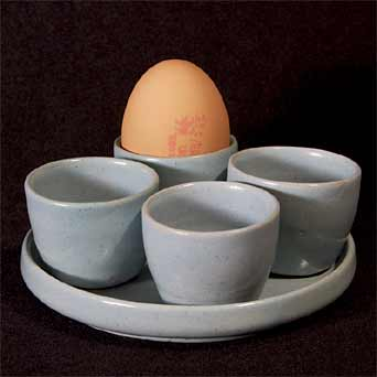 Blue Upchurch eggcup set