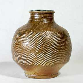Phil Rogers salt-glazed vase