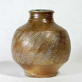 Phil Rogers salt-glazed vase