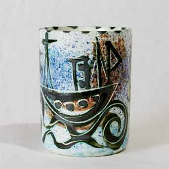 Early Celtic Folk boat mug II