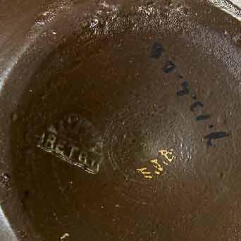 Bretby bronze cloisonne vases (marks)