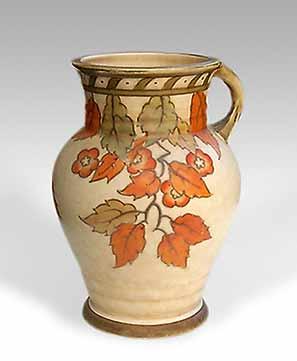 Charlotte Rhead handled vase