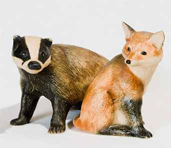Purbeck badger and fox