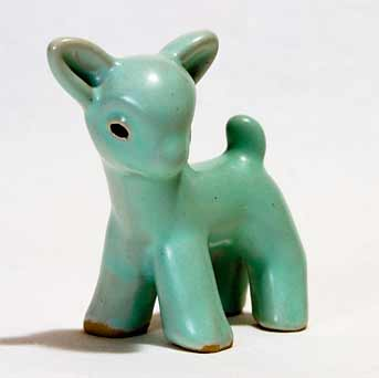 Small green Denby lamb