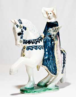 Paula Humphris medieval lady on horse