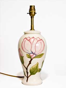 Moorcroft Magnolia lamp