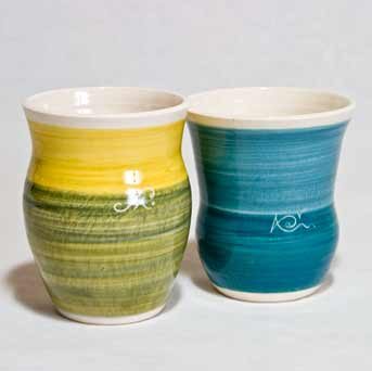 Two Beckley IOW vases