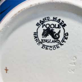 Poole Coronation jug (mark)