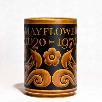 Hornsea Mayflower tankard (front)