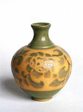 Donald Mills paper-resist vase