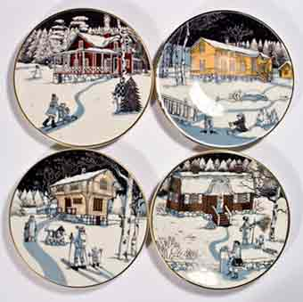 Four Arabia Slotte plates