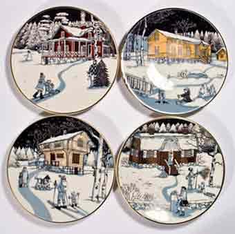 Four Arabia Slotte plates