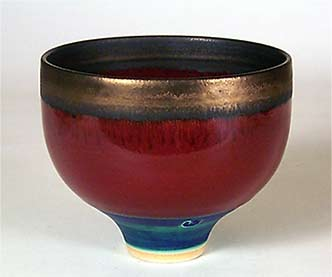 Red and blue Wills bowl