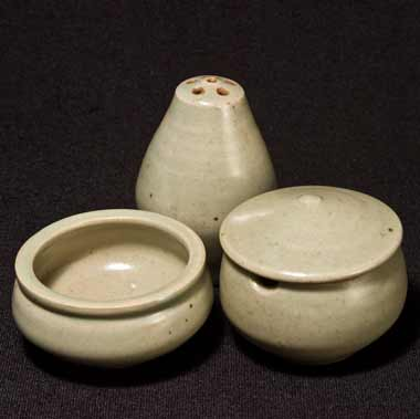 Leach celadon condiment set