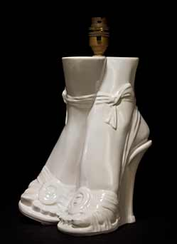 White Sunset high-heeled lamp