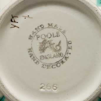 Poole Freeform vase (marks)