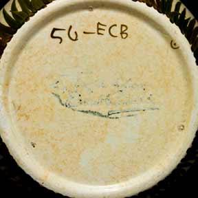 E Radford vase (marks)