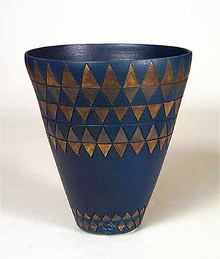 Dark blue porcelain vase