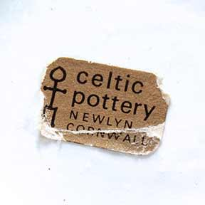 Celtic lidded jar (label)