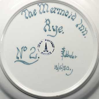 Iden 'Mermaid Inn' plate (marks)