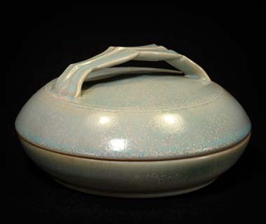 David White lidded bowl