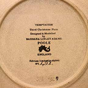 Poole Temptation plate (back)