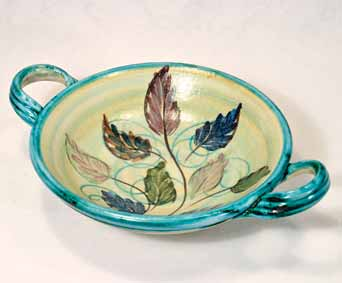 Decorated bowl with handles II