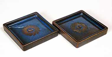 Two Gustavsberg trays