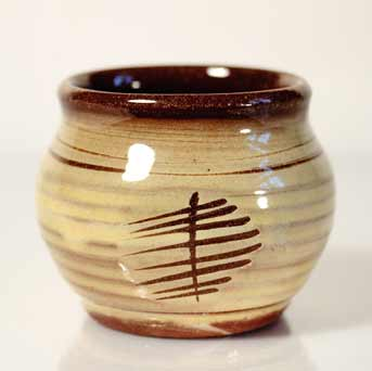 David Leach slipware bowl