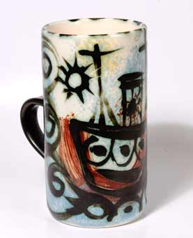 Celtic fishing boat mug