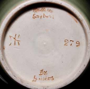 Agnete Hoy celadon vase (marks)