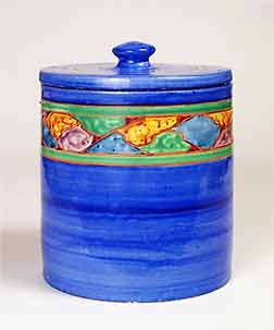 Lidded Joyous jar