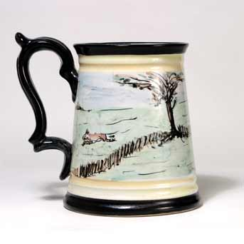 Glyn Colledge hunting tankard II (back)