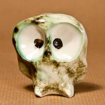 Green glazed Carn owl