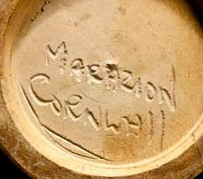 Marazion floral vase (mark)