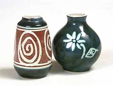 Two miniature vases