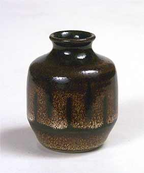Small rich brown vase