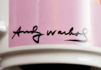 Pair of Warhol mugs (signature)