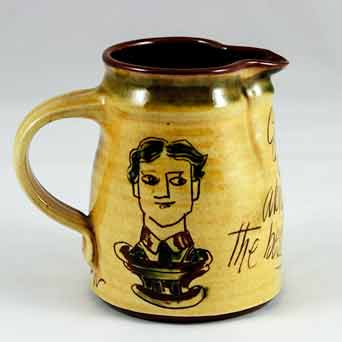 Mary Wondrausch sgraffito jug (him)