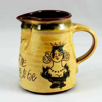 Mary Wondrausch sgraffito jug (her)