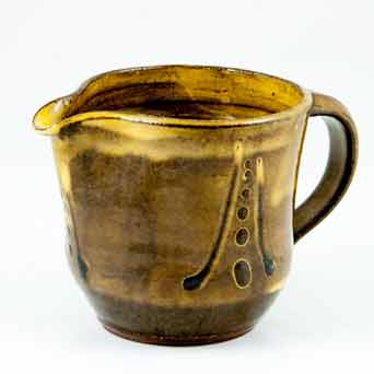 Brown Aylesford slipware jug