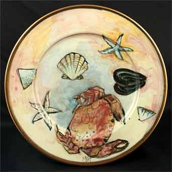 Port Isaac seashore plate