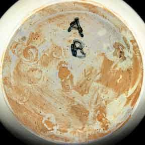 Upchurch AB vase (marks)