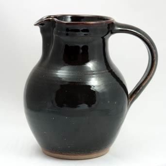 Dark tenmoku Winchcombe jug