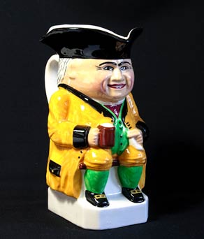 Yellow Devonmoor Toby jug