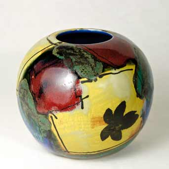 Dartington Paintbox globe vase