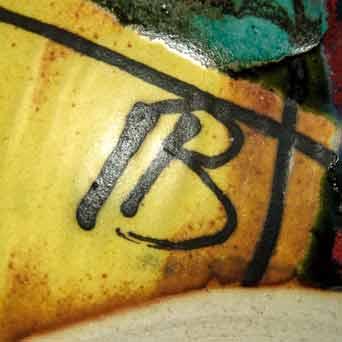 Dartington Paintbox globe vase (signature)