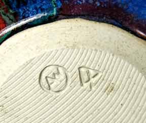 Dartington Paintbox globe vase (mark)