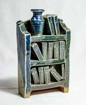 Ian Gregory blue bookcase